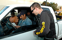 AJ Alexander/AAP 62608 - Traffic Stop at a Crime Suppression Operation by Maricopa County Sheriff's Office, Sheriff Joe Arpaio..Photo by AJ Alexander (C)