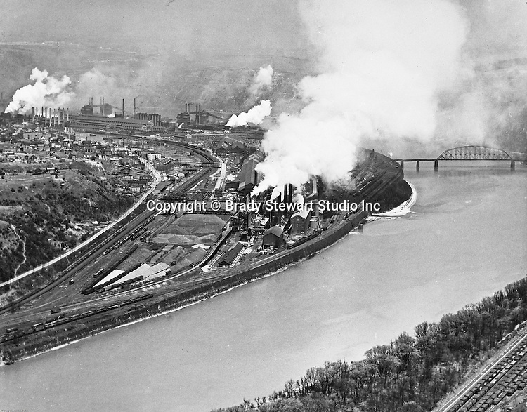 Pittsburgh PA - View of the Clairton Works of US Steel Corporation - 1960.