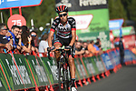 Fabio Aru (ITA) UAE Team Emirates approaches the finish line at the end of Stage 19 of the La Vuelta 2018, running 154.4km from Lleida to Andorra, Naturlandia, Andorra. 14th September 2018.                   <br /> Picture: Colin Flockton | Cyclefile<br /> <br /> <br /> All photos usage must carry mandatory copyright credit (© Cyclefile | Colin Flockton)