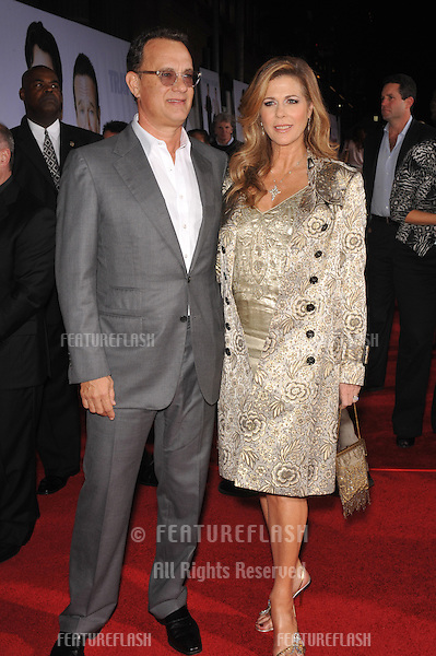 "Tom Hanks & wife Rita Wilson at the world premiere of her new movie Walt Disney's ""Old Dogs"" at the El Capitan Theatre, Hollywood..November 9, 2009  Los Angeles, CA.Picture: Paul Smith / Featureflash"