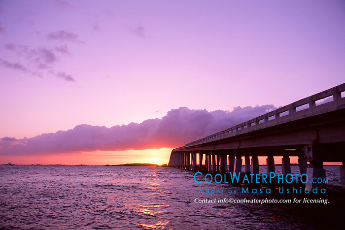 Card Sound Bridge at sunset, .Key Largo, Florida