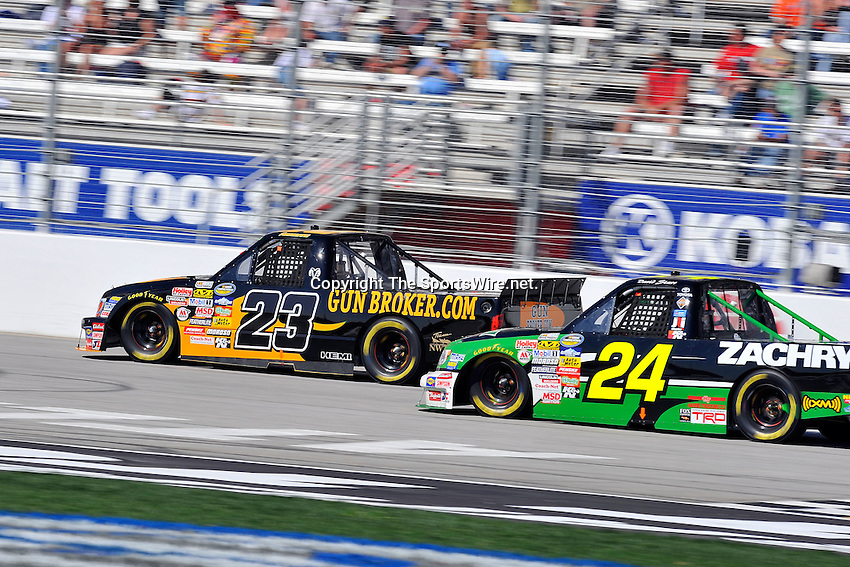 Mar 07, 2009; 2:52:17 PM; Hampton, GA, USA; NASCAR Camping World Truck Series race for the American Commercial Lines 200 at the Atlanta Motor Speedway.  Mandatory Credit: (thesportswire.net)