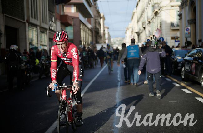 Adam Hansen (AUS/Lotto-Belisol) heading to the teambus after finishing<br /> <br /> 106th Milano - San Remo 2015