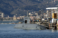 - the new Todaro submarine for the Italian Navy at the Fincantieri shipyards  of Muggiano (La Spezia)....- il nuovo sommergibile Todaro per la marina italiana presso i cantieri navali  Fincantieri di Muggiano (La Spezia)