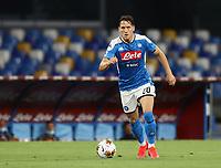 12th July 2020; Stadio San Paolo, Naples, Campania, Italy; Serie A Football, Napoli versus AC Milan; Piotr Zielinski of Napoli controls the ball and drives forward