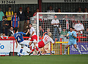 Tom Cadmore of Hayes and Yeading shoots for goal during the Blue Square Premier match between Stevenage Borough and Hayes and Yeading United at the Lamex Stadium, Broadhall Way, Stevenage on 10th October, 2009..© Kevin Coleman 2009 .