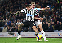 Burnley's Charlie Taylor and Newcastle United's Kenedy<br /> <br /> Photographer Rachel Holborn/CameraSport<br /> <br /> The Premier League - Burnley v Newcastle United - Monday 26th November 2018 - Turf Moor - Burnley<br /> <br /> World Copyright &copy; 2018 CameraSport. All rights reserved. 43 Linden Ave. Countesthorpe. Leicester. England. LE8 5PG - Tel: +44 (0) 116 277 4147 - admin@camerasport.com - www.camerasport.com