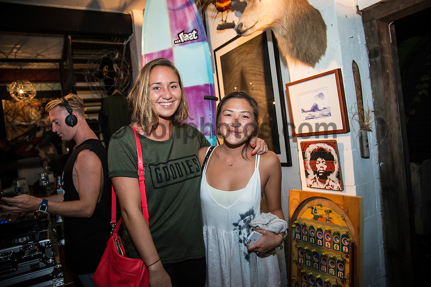 Snapper , Coolangatta, Queensland, Australia . Wednesday March 4 2015) Carissa Moore (HAW). - Lost Surfboards by Matt Biolos held a promo night at the Dust Temple, Currumbin last night attended by a number of it's team riders and <br /> industry people.Photo: joliphotos.com