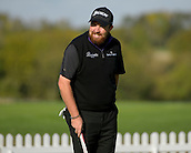 16.10.2014. The London Golf Club, Ash, England. The Volvo World Match Play Golf Championship.  Day 2 group stage matches.  Shane Lowry [IRL] on the practice green.