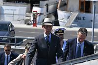 Pictured: Prince Edward. Saturday 18 May 2019<br /> Re: Prince Edward, Duke of Kent visits cruiser Georgios Averof at Palaio Faliro, Athens, Greece
