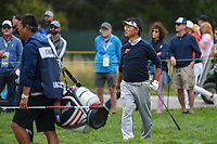 Kodai Ichihara (JPN) watches his pitch up tight on 2 during round 1 of the 2019 US Open, Pebble Beach Golf Links, Monterrey, California, USA. 6/13/2019.<br /> Picture: Golffile | Ken Murray<br /> <br /> All photo usage must carry mandatory copyright credit (© Golffile | Ken Murray)