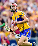 Peter Duggan of Clare celebrates his gaol during their All-Ireland semi-final replay at Semple Stadium,Thurles. Photograph by John Kelly.