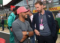Nick Hamilton and Gareth Southgate during the Formula 1 Rolex British Grand Prix 2019 at Silverstone Circuit, Towcester, England on 14 July 2019. Photo by Vince  Mignott.