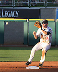 Aces Rysty Ryal turns a double play against Tacoma on Monday night.  Photo by Tom Smedes.