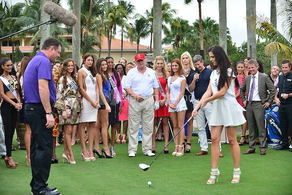 DORAL, FL - JANUARY 12: Donald Trump attends opening of Red Tiger Golf Course at Trump National Doral on January 12, 2015 in Doral, Florida. Credit: MPI10 / MediaPunch