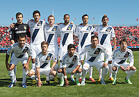 30 March 2013:The Los Angeles Galaxy  starting eleven during an MLS game between the LA Galaxy and Toronto FC at BMO Field in Toronto, Ontario Canada..The game ended in a 2-2 draw..