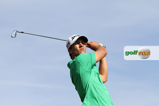 Thorbjorn Olesen (DEN) on the 16th tee on Day 4 of the 2012 Sicilian Open at Verdura Golf and Spa Resort, Sicily, Italy....(Photo Jenny Matthews/www.golffile.ie)