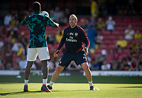 Arsenal coach Pablo Villa pre match during the Premier League match between Watford and Arsenal at Vicarage Road, Watford, England on 16 September 2019. Photo by Andy Rowland.