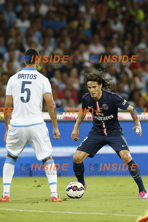 Edison Cavani PSG,  <br /> Napoli 11-08-2014 Stadio San Paolo <br /> Amichevole Calcio 2014/2015 Napoli - PSG Paris Saint Germain <br /> Foto Cesare Purini / Insidefoto