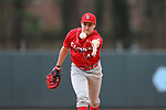 CHAPEL HILL, NC - FEBRUARY 21: Saint John's Chris Stefl. The University of North Carolina Tar heels hosted the Saint John's University Red Storm on February 21, 2018, at Boshamer Stadium in Chapel Hill, NC in a Division I College Baseball game. St John's won the game 5-2.