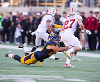 Berkeley, Calif. - November 22, 2014: 117th annual California vs Stanford NCAA football game on Kabam Field at Memorial Stadium.