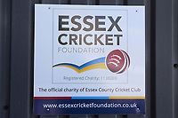 Essex Cricket Foundation signage during Essex CCC vs Durham MCCU, English MCC University Match Cricket at The Cloudfm County Ground on 3rd April 2017