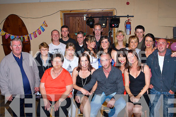 Vera Galvin Castleisland seated second from left who celebrated her 21st in Castleisland Rugby clubhouse Saturday night   Copyright Kerry's Eye 2008