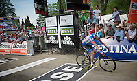 2nd Daniel Martin (IRL/Garmin-Sharp) crossing the finish line<br /> <br /> La Flèche Wallonne 2014