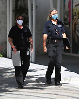 CORAL GABLES, FL - MAY 22: A general view as Restaurant Inspectors go about their daily activities as Phase One opening begins In Miami Dade county during the COVID-19 pandemic on May 22, 2020 in Coral Gables, Florida. Credit: mpi04/MediaPunch