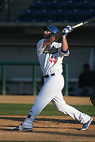 Joey Curletta (44) of the Rancho Cucamonga Quakes bats during a game against the Bakersfield Blaze at LoanMart Field on June 1, 2015 in Rancho Cucamonga, California. Rancho Cucamonga defeated Bakersfield, 5-2. (Larry Goren/Four Seam Images)