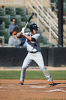 Ryan Mountcastle (4) of the Delmarva Shorebirds at bat against the Kannapolis Intimidators at Kannapolis Intimidators Stadium on April 13, 2016 in Kannapolis, North Carolina.  The Intimidators defeated the Shorebirds 8-7.  (Brian Westerholt/Four Seam Images)