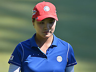 Owings Mills, MD - July 26, 2014: So Yeon Ryu of team Korea walks to the 9the hole during Round 3 of four-ball competition at the LPGA International Crown at the Caves Valley Golf Club in Owings Mills, MD on July 26, 2014. 32 players from twelve countries competed in this inaugural tournament.  (Photo by Don Baxter/Media Images International)