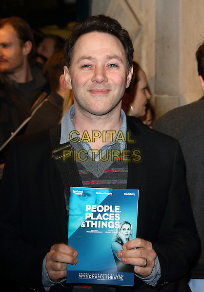 LONDON, ENGLAND -  Reece Shearsmith at 'People, Places and Things' - VIP opening night at Wyndhams Theatre, London on March 23rd 2016<br /> CAP/ROS<br /> &copy;Steve Ross/Capital Pictures