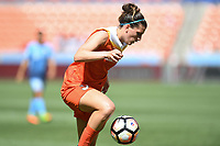 Houston, TX - Saturday May 13, 2017: Houston Dash defender Cari Roccaro (5) during a regular season National Women's Soccer League (NWSL) match between the Houston Dash and Sky Blue FC at BBVA Compass Stadium. Sky Blue won the game 3-1.