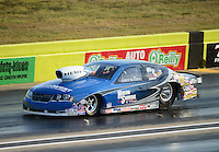 Sept. 21, 2012; Ennis, TX, USA: NHRA pro stock driver Chris McGaha during qualifying for the Fall Nationals at the Texas Motorplex. Mandatory Credit: Mark J. Rebilas-