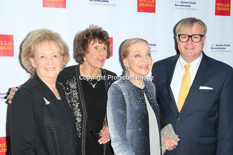 LOS ANGELES - JUN 7: Lynda Oschin, Betty Anderson, Anne Jeffreys, Jonathan Weedman at the Actors Fund's 19th Annual Tony Awards Viewing Party at the Skirball Cultural Center on June 7, 2015 in Los Angeles, CA