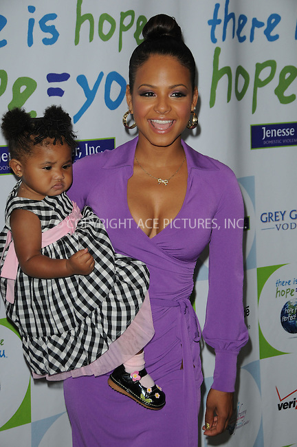 WWW.ACEPIXS.COM . . . . . ....April 17 2011, Los Angeles....Recording artist Christina Milian and daughter Violet Madison Nash arriving at the 2011 Jenesse Silver Rose Auction and Gala at the Beverly Hills Hotel on April 17, 2011 in Beverly Hills, CA....Please byline: PETER WEST - ACEPIXS.COM....Ace Pictures, Inc:  ..(212) 243-8787 or (646) 679 0430..e-mail: picturedesk@acepixs.com..web: http://www.acepixs.com