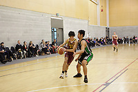 Action from the Wellington College Boys Basketball Div 2 Final between Heretaunga College and Taita College held at Te Rauparaha Arena, Porirua, New Zealand on 30 August 2012. Photo: john.mathews@xtra.co.nz