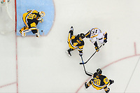May 31, 2017: Pittsburgh Penguins goalie Matt Murray (30) makes a save during game two of the National Hockey League Stanley Cup Finals between the Nashville Predators  and the Pittsburgh Penguins, held at PPG Paints Arena, in Pittsburgh, PA. The Penguins defeat the Predators 4-1 and lead the series 2-0. Eric Canha/CSM