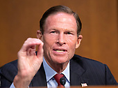 "United States Senator Richard Blumenthal (Democrat of Connecticut) joins in the debate about the release of documents designated ""committee confidential"" prior to the US Senate Judiciary Committee beginning the third day of testimony from Judge Brett Kavanaugh on his nomination as Associate Justice of the US Supreme Court to replace the retiring Justice Anthony Kennedy on Capitol Hill in Washington, DC on Thursday, September 6, 2018.<br /> Credit: Ron Sachs / CNP<br /> (RESTRICTION: NO New York or New Jersey Newspapers or newspapers within a 75 mile radius of New York City)"
