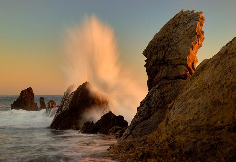 Crashing wave . Corona Del Mar. California