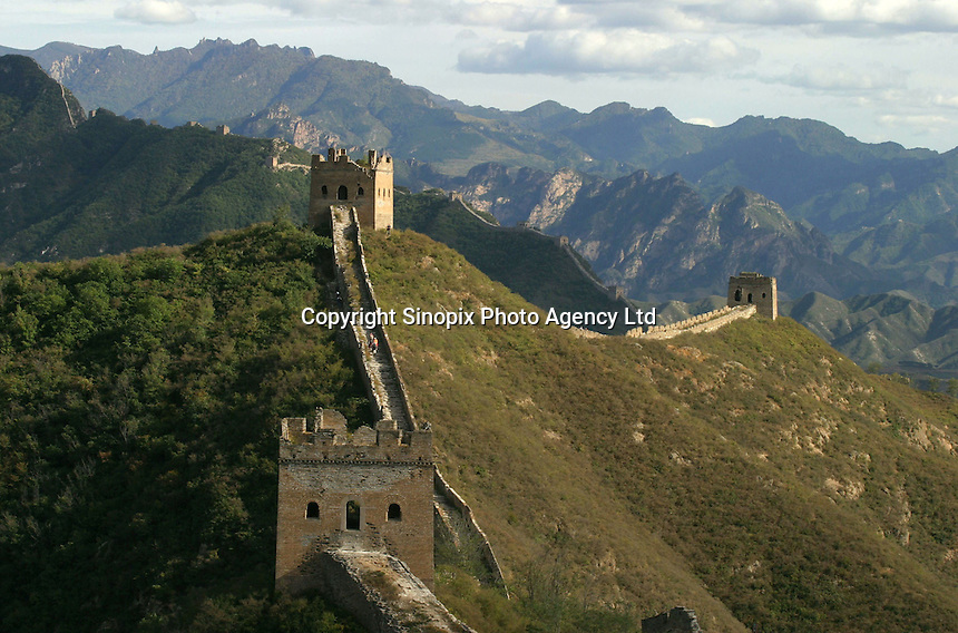 The Great Wall in Beijing, China.
