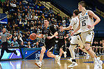 SALEM, VA - MARCH 17: Nebraska Wesleyan Prairie Wolves guard Nate Schimonitz (10) drives for 2 of his 15 points during the Division III Men's Basketball Championship held at the Salem Civic Center on March 17, 2018 in Salem, Virginia. Nebraska Wesleyen defeated Wisconsin-Oshkosh 78-72 for the national title. (Photo by Andres Alonso/NCAA Photos/NCAA Photos via Getty Images)