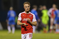 Kyle Dempsey of Fleetwood Town applauds the travelling fans afterthe Sky Bet League 1 match between Gillingham and Fleetwood Town at the MEMS Priestfield Stadium, Gillingham, England on 27 January 2018. Photo by David Horn.