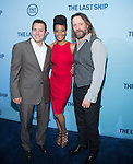 WASHINGTON, DC - JUNE 4: Writer Hank Steinberg and actors Christina Elmore and John Pyper-Ferguson attends The Last Ship premiere screening, a partnership between TNT and the U.S. Navy on June 4, 2014 in Washington, D.C. Photo Credit: Morris Melvin / Retna Ltd.