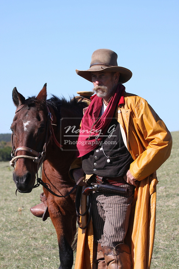 There is a bond between a cowboy and his horse out on the range