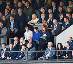 Ex-Chairman Malcolm Murray sitting behind the Rangers directors box at Ayr