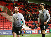 Jack Marriott of Peterborough United celebrates scoring during the Sky Bet League 1 match between Charlton Athletic and Peterborough at The Valley, London, England on 28 November 2017. Photo by Vince  Mignott / PRiME Media Images.