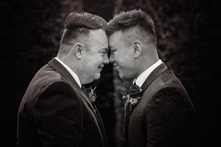 Same sex wedding photography at Eynsham Hall, Oxfordshire