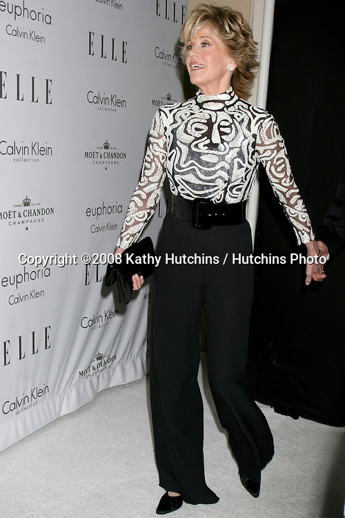 "Jane Fonda arriving at the Elle's ""Women in Hollywood Event"" at the Four Seasons Hotel in Los Angeles,  CA on.October 6, 2008.©2008 Kathy Hutchins / Hutchins Photo....                ."